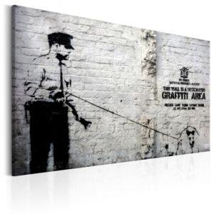 Tableau - Graffiti Area (Police and a Dog) by Banksy fait partie des tableaux murales de la collection de worldofwomen découvrez ce magnifique tableau exclusif chez nous