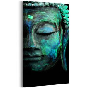 Tableau - Green Mask fait partie des tableaux murales de la collection de worldofwomen découvrez ce magnifique tableau exclusif chez nous