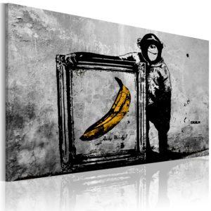 Tableau - Inspired by Banksy - black and white fait partie des tableaux murales de la collection de worldofwomen découvrez ce magnifique tableau exclusif chez nous