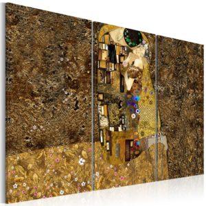 Tableau - Klimt inspiration - Baiser fait partie des tableaux murales de la collection de worldofwomen découvrez ce magnifique tableau exclusif chez nous