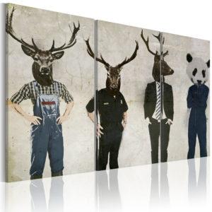 Tableau - L'homme est un animal comme les autres ! fait partie des tableaux murales de la collection de worldofwomen découvrez ce magnifique tableau exclusif chez nous
