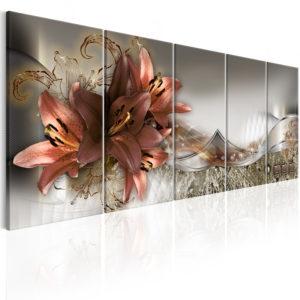 Tableau - Lilies and Abstraction fait partie des tableaux murales de la collection de worldofwomen découvrez ce magnifique tableau exclusif chez nous