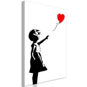 Tableau - Little Girl with a Balloon (1 Part) Vertical fait partie des tableaux murales de la collection de worldofwomen découvrez ce magnifique tableau exclusif chez nous