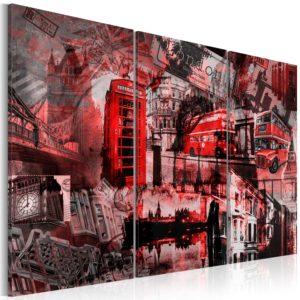 Tableau - Londres rouges fait partie des tableaux murales de la collection de worldofwomen découvrez ce magnifique tableau exclusif chez nous