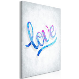 Tableau - Love (1 Part) Vertical fait partie des tableaux murales de la collection de worldofwomen découvrez ce magnifique tableau exclusif chez nous