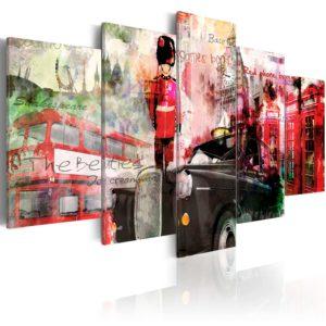 Tableau - Mémoires de Londres - 5 pièces fait partie des tableaux murales de la collection de worldofwomen découvrez ce magnifique tableau exclusif chez nous