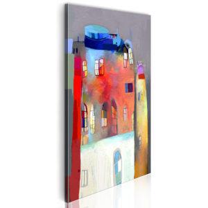Tableau - Maison irisée fait partie des tableaux murales de la collection de worldofwomen découvrez ce magnifique tableau exclusif chez nous