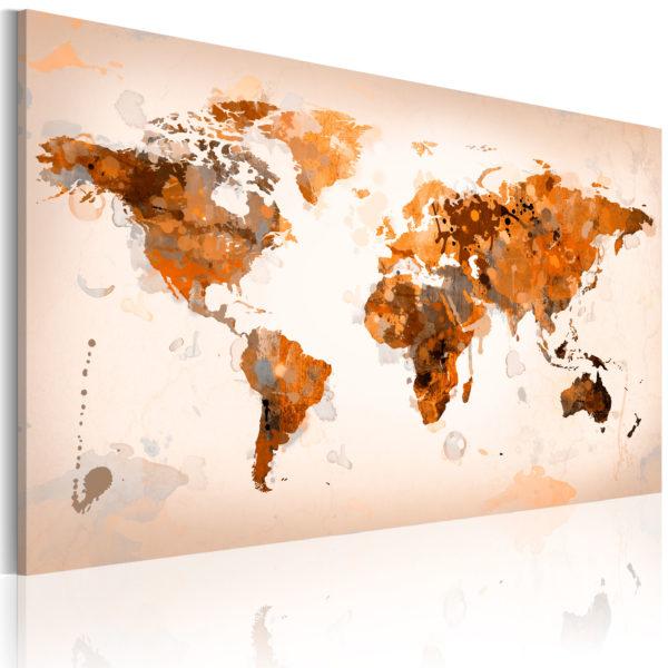 Tableau - Map of the World - Desert storm fait partie des tableaux murales de la collection de worldofwomen découvrez ce magnifique tableau exclusif chez nous