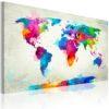 Tableau - Map of the world - an explosion of colors fait partie des tableaux murales de la collection de worldofwomen découvrez ce magnifique tableau exclusif chez nous