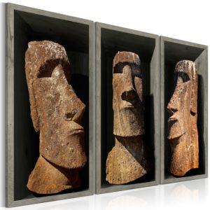 Tableau - Moai (Easter Island) fait partie des tableaux murales de la collection de worldofwomen découvrez ce magnifique tableau exclusif chez nous