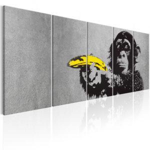 Tableau - Monkey and Banana fait partie des tableaux murales de la collection de worldofwomen découvrez ce magnifique tableau exclusif chez nous