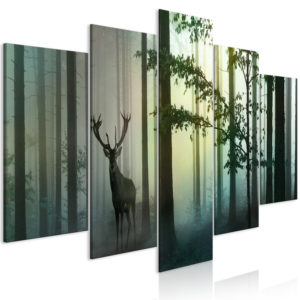 Tableau - Morning (5 Parts) Wide Green fait partie des tableaux murales de la collection de worldofwomen découvrez ce magnifique tableau exclusif chez nous