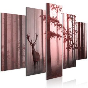 Tableau - Morning (5 Parts) Wide Pink fait partie des tableaux murales de la collection de worldofwomen découvrez ce magnifique tableau exclusif chez nous