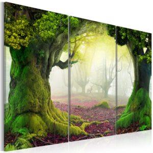 Tableau - Mysterious forest - triptych fait partie des tableaux murales de la collection de worldofwomen découvrez ce magnifique tableau exclusif chez nous