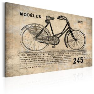 Tableau - N° 1245 - Bicyclette fait partie des tableaux murales de la collection de worldofwomen découvrez ce magnifique tableau exclusif chez nous
