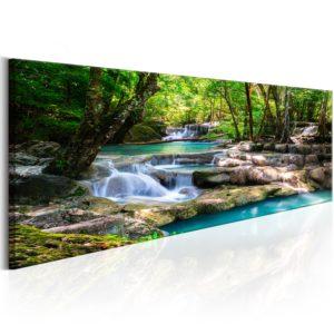 Tableau - Nature: Forest Waterfall fait partie des tableaux murales de la collection de worldofwomen découvrez ce magnifique tableau exclusif chez nous