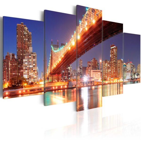 Tableau -  New York aux reflets dorés fait partie des tableaux murales de la collection de worldofwomen découvrez ce magnifique tableau exclusif chez nous