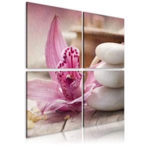 Tableau - Orchidée et zen fait partie des tableaux murales de la collection de worldofwomen découvrez ce magnifique tableau exclusif chez nous