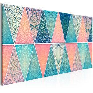 Tableau - Oriental Triangles (1 Part) Narrow fait partie des tableaux murales de la collection de worldofwomen découvrez ce magnifique tableau exclusif chez nous