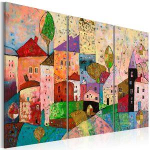 Tableau - Picturesque Small Town fait partie des tableaux murales de la collection de worldofwomen découvrez ce magnifique tableau exclusif chez nous