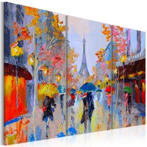 Tableau - Rainy Paris fait partie des tableaux murales de la collection de worldofwomen découvrez ce magnifique tableau exclusif chez nous