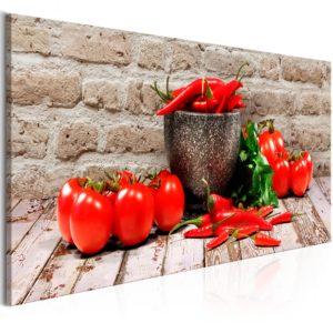 Tableau - Red Vegetables (1 Part) Brick Narrow fait partie des tableaux murales de la collection de worldofwomen découvrez ce magnifique tableau exclusif chez nous