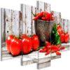 Tableau - Red Vegetables (5 Parts) Wood Wide fait partie des tableaux murales de la collection de worldofwomen découvrez ce magnifique tableau exclusif chez nous