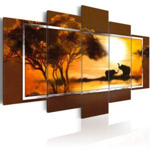 Tableau - Rendez-vous à la Savane fait partie des tableaux murales de la collection de worldofwomen découvrez ce magnifique tableau exclusif chez nous