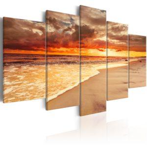 Tableau - Sea: Beautiful Sunset fait partie des tableaux murales de la collection de worldofwomen découvrez ce magnifique tableau exclusif chez nous