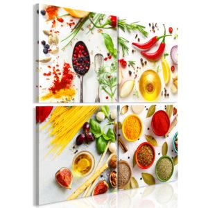 Tableau - Spices of the World (4 Parts) fait partie des tableaux murales de la collection de worldofwomen découvrez ce magnifique tableau exclusif chez nous