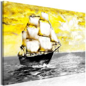 Tableau - Spring Cruise (1 Part) Wide Yellow fait partie des tableaux murales de la collection de worldofwomen découvrez ce magnifique tableau exclusif chez nous