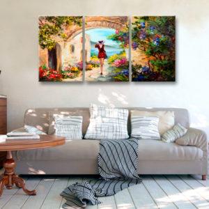 Tableaux > Paysages > Paysage méditerranéen ce catalogue des tableaux déco pour tout types de murs et prêt à poser