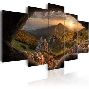 Tableau - Sunset in the Valley fait partie des tableaux murales de la collection de worldofwomen découvrez ce magnifique tableau exclusif chez nous