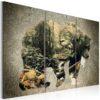 Tableau - The Bear in the Forest fait partie des tableaux murales de la collection de worldofwomen découvrez ce magnifique tableau exclusif chez nous
