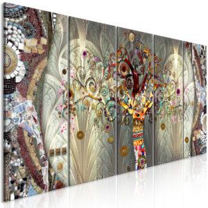 Tableau - Tree of Life (5 Parts) Narrow fait partie des tableaux murales de la collection de worldofwomen découvrez ce magnifique tableau exclusif chez nous