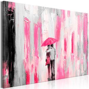Tableau - Umbrella in Love (1 Part) Wide Pink fait partie des tableaux murales de la collection de worldofwomen découvrez ce magnifique tableau exclusif chez nous