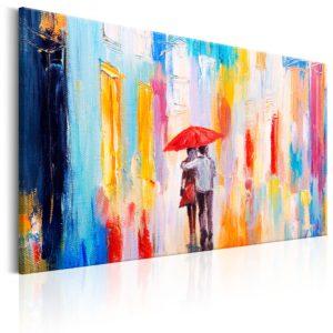 Tableau - Under the Love Umbrella fait partie des tableaux murales de la collection de worldofwomen découvrez ce magnifique tableau exclusif chez nous