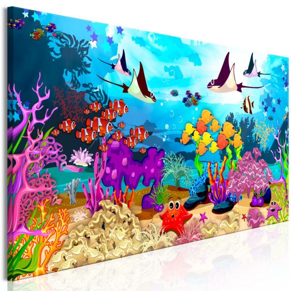 Tableau - Underwater Fun (1 Part) Narrow fait partie des tableaux murales de la collection de worldofwomen découvrez ce magnifique tableau exclusif chez nous