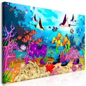 Tableau - Underwater Fun (1 Part) Wide fait partie des tableaux murales de la collection de worldofwomen découvrez ce magnifique tableau exclusif chez nous