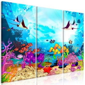 Tableau - Underwater Fun (3 Parts) fait partie des tableaux murales de la collection de worldofwomen découvrez ce magnifique tableau exclusif chez nous
