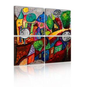 Tableau - Ville multicolore fait partie des tableaux murales de la collection de worldofwomen découvrez ce magnifique tableau exclusif chez nous