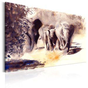 Tableau - Watercolour Elephants fait partie des tableaux murales de la collection de worldofwomen découvrez ce magnifique tableau exclusif chez nous