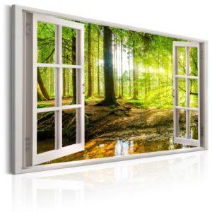 Tableau - Window: View on Forest fait partie des tableaux murales de la collection de worldofwomen découvrez ce magnifique tableau exclusif chez nous