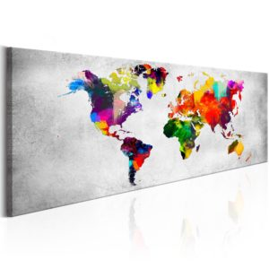 Tableau - World Map: Coloured Revolution fait partie des tableaux murales de la collection de worldofwomen découvrez ce magnifique tableau exclusif chez nous