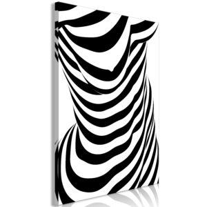 Tableau - Zebra Woman (1 Part) Vertical fait partie des tableaux murales de la collection de worldofwomen découvrez ce magnifique tableau exclusif chez nous