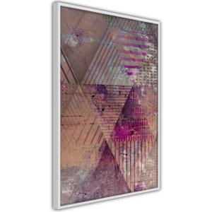 Apportez une nouvelle douche déco avec le Poster et affiche - Pink Patchwork II