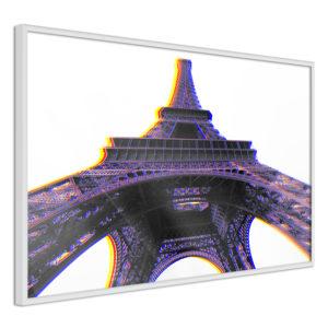 Apportez une nouvelle douche déco avec le Poster et affiche - Symbol of Paris (Purple)