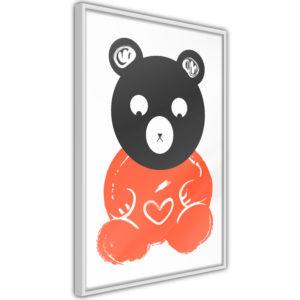 Apportez une nouvelle douche déco avec le Poster et affiche - Teddy Bear in Love
